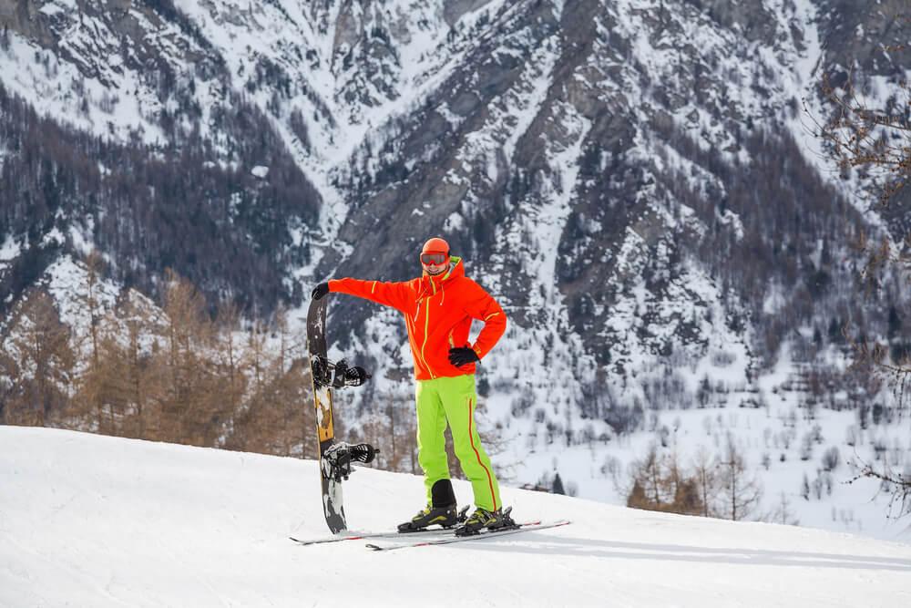 snowboard vs narty